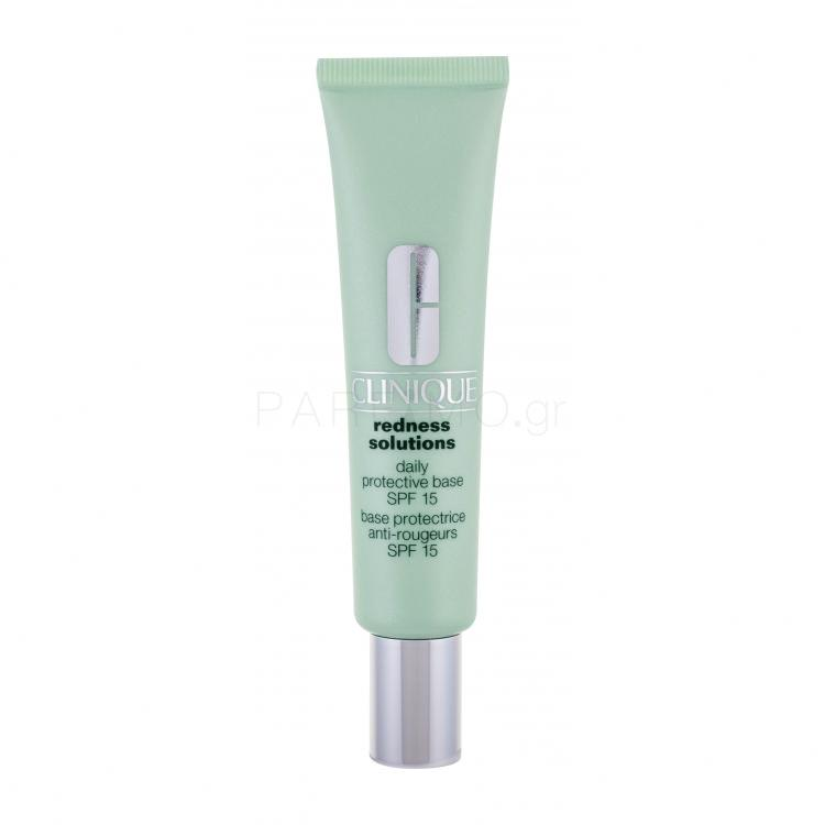 Clinique Redness Solutions Daily Protective Base SPF15 Βάση μακιγιαζ για γυναίκες