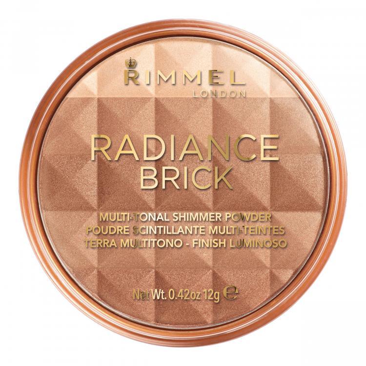 Rimmel London Radiance Brick Μπρόνζερ για γυναίκες 12 gr Απόχρωση 001 Light